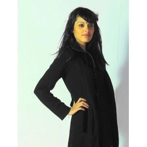 Manteau noir long - Aggabarti