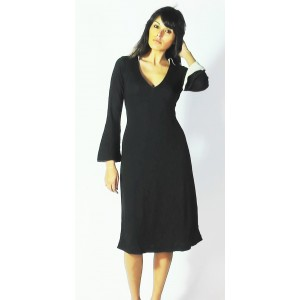 Robe stretch noire manches réversibles - Aggabarti